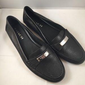 "Coach ""Fredrica"" Black Soft Leather Loafer"